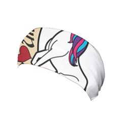 I Love Unicorn  Yoga Headband by ninabolenart