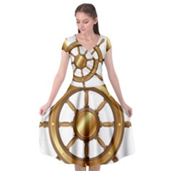 Boat Wheel Transparent Clip Art Cap Sleeve Wrap Front Dress by BangZart