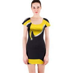 Black Rhino Logo Short Sleeve Bodycon Dress