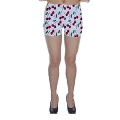 Cherry Red Skinny Shorts by Kathrinlegg