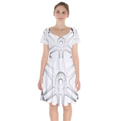 Wheel Skin Cover Short Sleeve Bardot Dress by BangZart