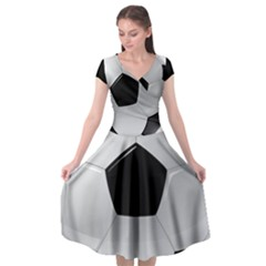 Soccer Ball Cap Sleeve Wrap Front Dress by BangZart