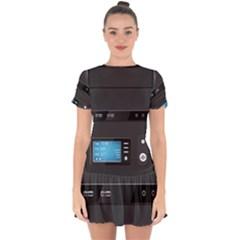 Standard Computer Case Front Drop Hem Mini Chiffon Dress by BangZart