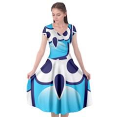 Owl Logo Clip Art Cap Sleeve Wrap Front Dress
