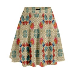 Traditional Scandinavian Pattern High Waist Skirt by BangZart