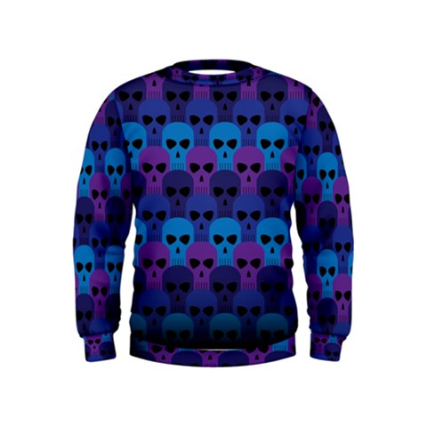 Skull Pattern Wallpaper Kids  Sweatshirt