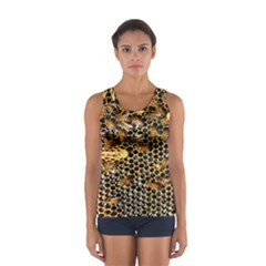Queen Cup Honeycomb Honey Bee Sport Tank Top  by BangZart