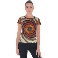 Fractal Pattern Short Sleeve Sports Top  by BangZart