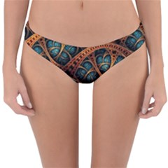 Fractal Art Pattern Flower Art Background Clored Reversible Hipster Bikini Bottoms by BangZart