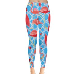 Flamingo Leggings  by PattyVilleDesigns