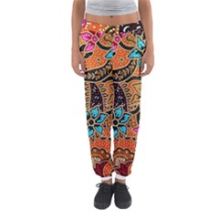Colorful The Beautiful Of Art Indonesian Batik Pattern(1) Women s Jogger Sweatpants by BangZart