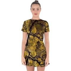 Colorful The Beautiful Of Traditional Art Indonesian Batik Pattern Drop Hem Mini Chiffon Dress