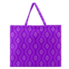 Decorative Seamless Pattern  Zipper Large Tote Bag