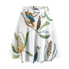 Australian Kookaburra Bird Pattern High Waist Skirt by BangZart