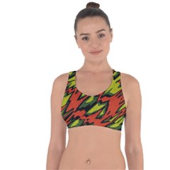 Distorted Shapes                              Cross String Back Sports Bra by LalyLauraFLM