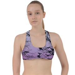 Crow Flock  Criss Cross Racerback Sports Bra by Valentinaart
