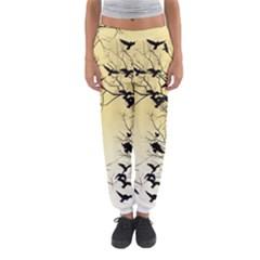 Crow Flock  Women s Jogger Sweatpants by Valentinaart