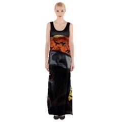 Bird Man  Maxi Thigh Split Dress by Valentinaart