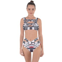 Ethnic Traditional Art Bandaged Up Bikini Set  by BangZart