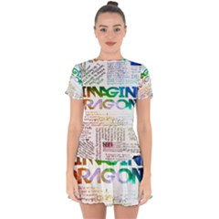Imagine Dragons Quotes Drop Hem Mini Chiffon Dress by BangZart