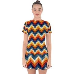The Amazing Pattern Library Drop Hem Mini Chiffon Dress by BangZart