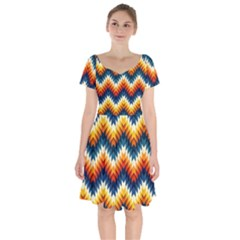 The Amazing Pattern Library Short Sleeve Bardot Dress