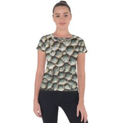 Ocean Pattern Short Sleeve Sports Top  by BangZart