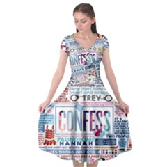 Book Collage Based On Confess Cap Sleeve Wrap Front Dress by BangZart