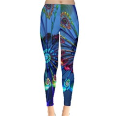 Top Peacock Feathers Leggings  by BangZart