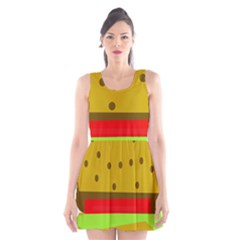 Hamburger Food Fast Food Burger Scoop Neck Skater Dress