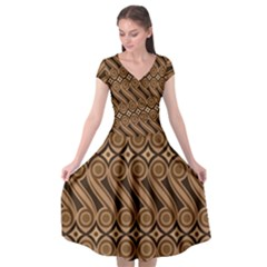 Batik The Traditional Fabric Cap Sleeve Wrap Front Dress
