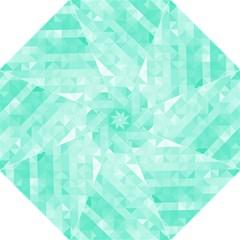 Bright Green Turquoise Geometric Background Golf Umbrellas by TastefulDesigns