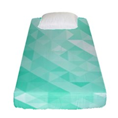 Bright Green Turquoise Geometric Background Fitted Sheet (single Size)
