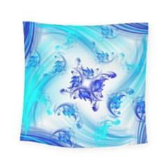 Summer Ice Flower Square Tapestry (small) by designsbyamerianna
