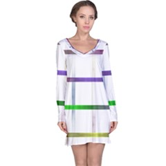 Blurred Lines Long Sleeve Nightdress by designsbyamerianna