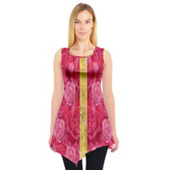 Rose And Roses And Another Rose Sleeveless Tunic by pepitasart