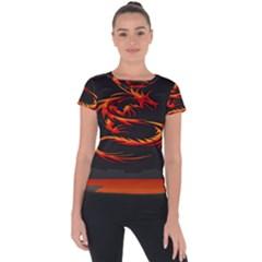 Dragon Short Sleeve Sports Top  by BangZart