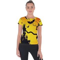 Halloween Night Terrors Short Sleeve Sports Top  by BangZart