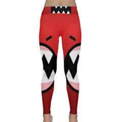Funny Angry Classic Yoga Leggings by BangZart