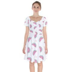 Watermelon Wallpapers  Creative Illustration And Patterns Short Sleeve Bardot Dress