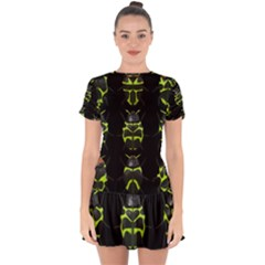 Beetles Insects Bugs Drop Hem Mini Chiffon Dress by BangZart