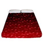 Red Music Notes Fitted Sheet (Queen Size)