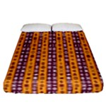 Adinkra Stripes Fitted Sheet (Queen Size)