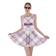Pastel Pink And Blue Plaid Skater Dress by NorthernWhimsy
