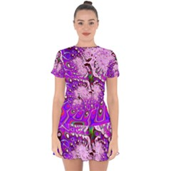 Fractal Fantasy 717a Drop Hem Mini Chiffon Dress by Fractalworld