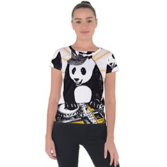 Deejay Panda Short Sleeve Sports Top
