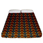 Shango Juju Blue Fitted Sheet (King Size)
