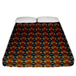 Shango Juju Blue Fitted Sheet (Queen Size)