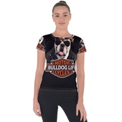 Bulldog Biker Short Sleeve Sports Top