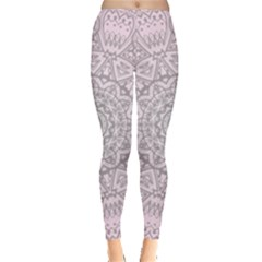 Pink Mandala Art  Leggings